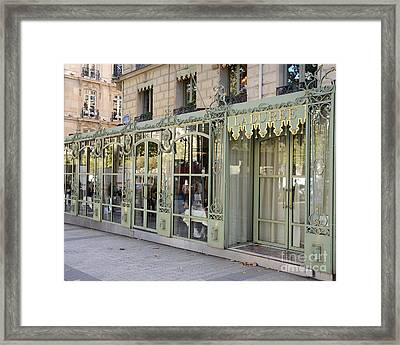 Paris Dreamy Laduree Patisserie And Tea Shop - Paris Laduree Doors And Architecture Fine Art Framed Print by Kathy Fornal