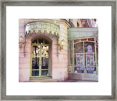Paris Laduree Patisserie And Tea Shop - Paris Laduree Macaron Tea Shop Decor Prints Framed Print by Kathy Fornal