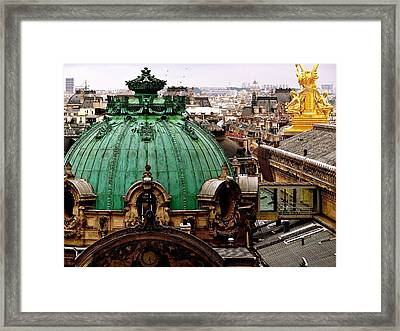 Paris Drizzles Framed Print