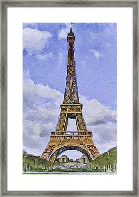 Paris Eiffel Tower 2 Framed Print by Yury Malkov
