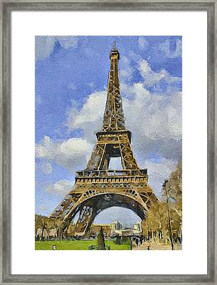 Paris Eiffel Tower 3 Framed Print by Yury Malkov