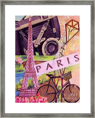 Framed Print featuring the drawing Paris  by Eloise Schneider