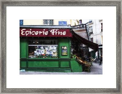 Paris Epicerie Framed Print by Georgia Fowler