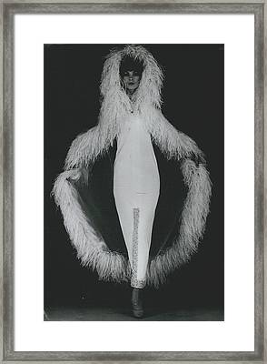 Paris Fashions Outline In Ostrich Feathers Framed Print by Retro Images Archive