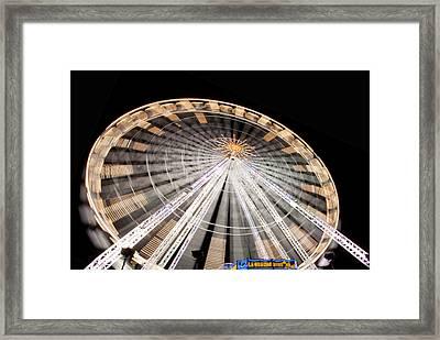 Paris Ferris Wheel Framed Print by Matthew Bamberg