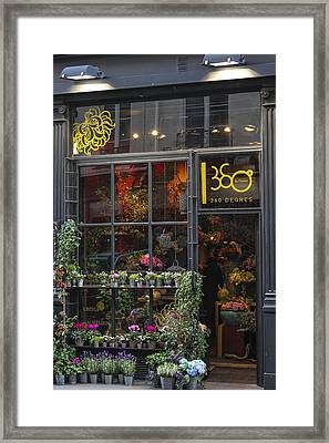 Paris Flower Shop Framed Print by Glenn DiPaola