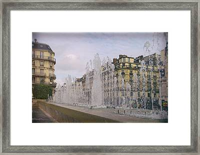 Paris Fountain Framed Print by Georgia Fowler