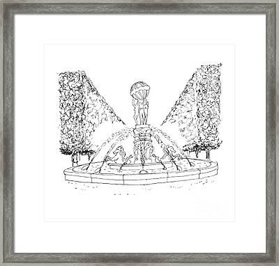 Paris Fountain Framed Print