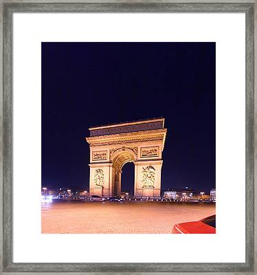 Paris France - Arc De Triomphe - 01131 Framed Print by DC Photographer