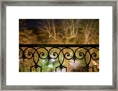 Paris, France, Autumn Trees Seen Framed Print