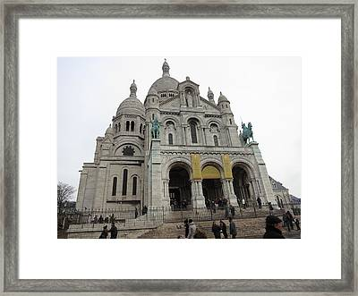 Paris France - Basilica Of The Sacred Heart - Sacre Coeur - 12122 Framed Print by DC Photographer