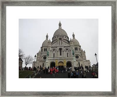 Paris France - Basilica Of The Sacred Heart - Sacre Coeur - 12127 Framed Print by DC Photographer