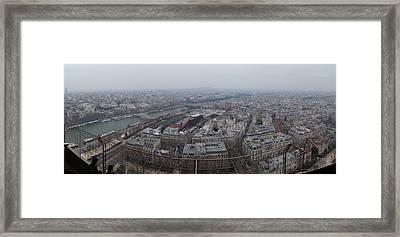 Paris France - Eiffel Tower - 01131 Framed Print by DC Photographer