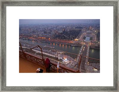 Paris France - Eiffel Tower - 011317 Framed Print