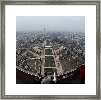 Paris France - Eiffel Tower - 01132 Framed Print by DC Photographer
