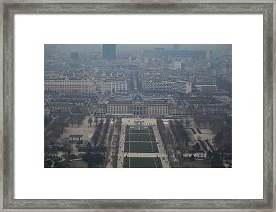 Paris France - Eiffel Tower - 01134 Framed Print by DC Photographer