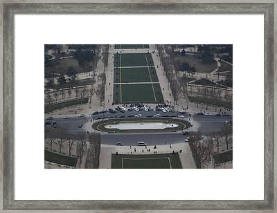 Paris France - Eiffel Tower - 01135 Framed Print