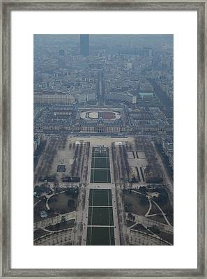 Paris France - Eiffel Tower - 01136 Framed Print by DC Photographer