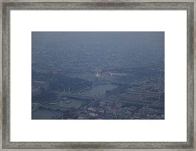 Paris France - Eiffel Tower - 01137 Framed Print by DC Photographer