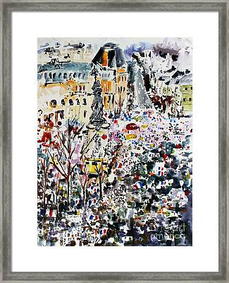 Paris France January 11th 2015 Framed Print by Ginette Callaway