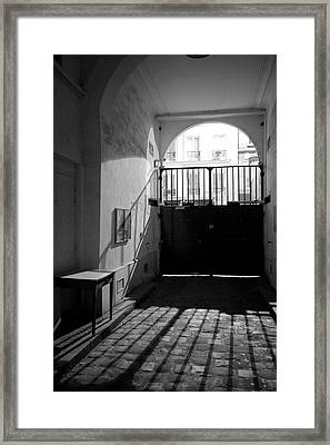 Paris, France, Limit Of The Gated Framed Print