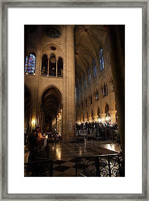Paris France - Notre Dame De Paris - 011310 Framed Print