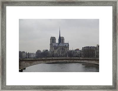 Paris France - Notre Dame De Paris - 011313 Framed Print