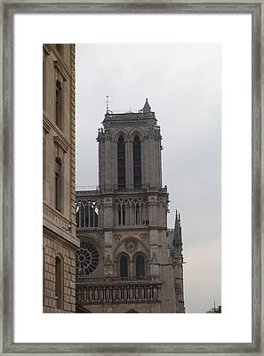 Paris France - Notre Dame De Paris - 01132 Framed Print