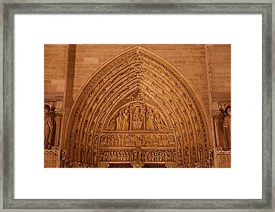 Paris France - Notre Dame De Paris - 01136 Framed Print by DC Photographer