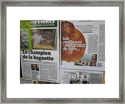 Paris France - Pastries - 121214 Framed Print by DC Photographer