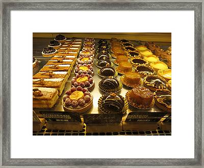 Paris France - Pastries - 121224 Framed Print by DC Photographer