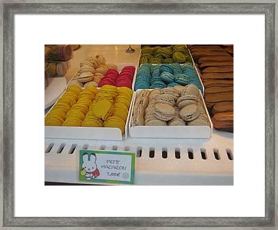 Paris France - Pastries - 121239 Framed Print