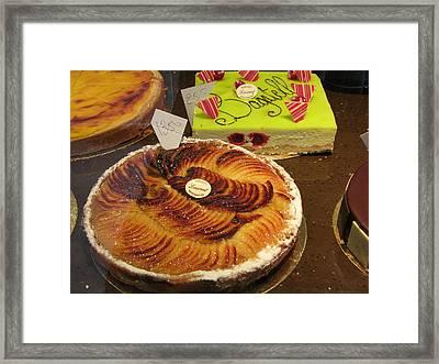 Paris France - Pastries - 121261 Framed Print