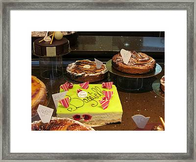 Paris France - Pastries - 121262 Framed Print by DC Photographer