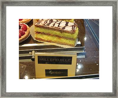 Paris France - Pastries - 121265 Framed Print by DC Photographer