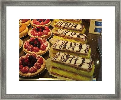 Paris France - Pastries - 121266 Framed Print by DC Photographer