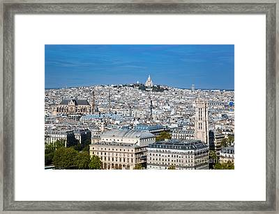 Paris France Sacre-coeur Basilica Framed Print by Michal Bednarek