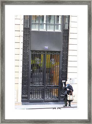 Paris France - Street Scenes - 0113103 Framed Print by DC Photographer