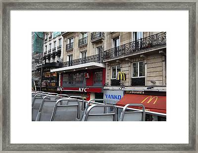 Paris France - Street Scenes - 0113130 Framed Print by DC Photographer
