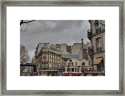 Paris France - Street Scenes - 0113137 Framed Print by DC Photographer