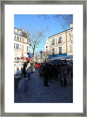 Paris France - Street Scenes - 01139 Framed Print by DC Photographer
