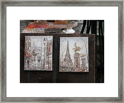 Paris France - Street Scenes - 121225 Framed Print by DC Photographer