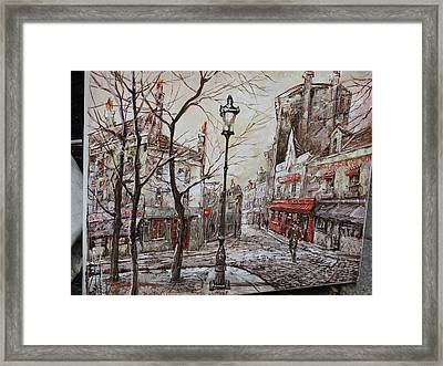 Paris France - Street Scenes - 121230 Framed Print