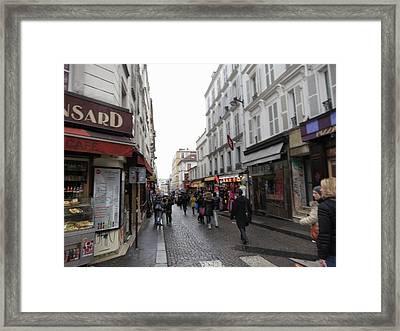 Paris France - Street Scenes - 121234 Framed Print by DC Photographer