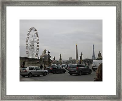 Paris France - Street Scenes - 121245 Framed Print