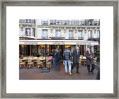 Paris France - Street Scenes - 12127 Framed Print