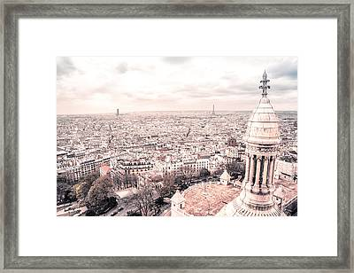 Paris From Above - View From Sacre Coeur Basilica Framed Print by Vivienne Gucwa