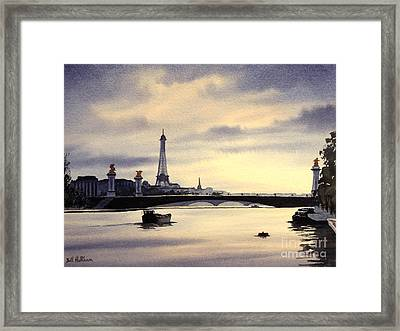 Paris From The Seine Framed Print by Bill Holkham