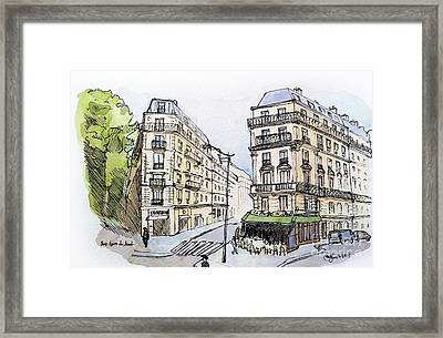 Paris Gare Du Nord Framed Print by Marie Minyoung Jeon