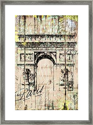 Paris Gate Vintage Poster Framed Print
